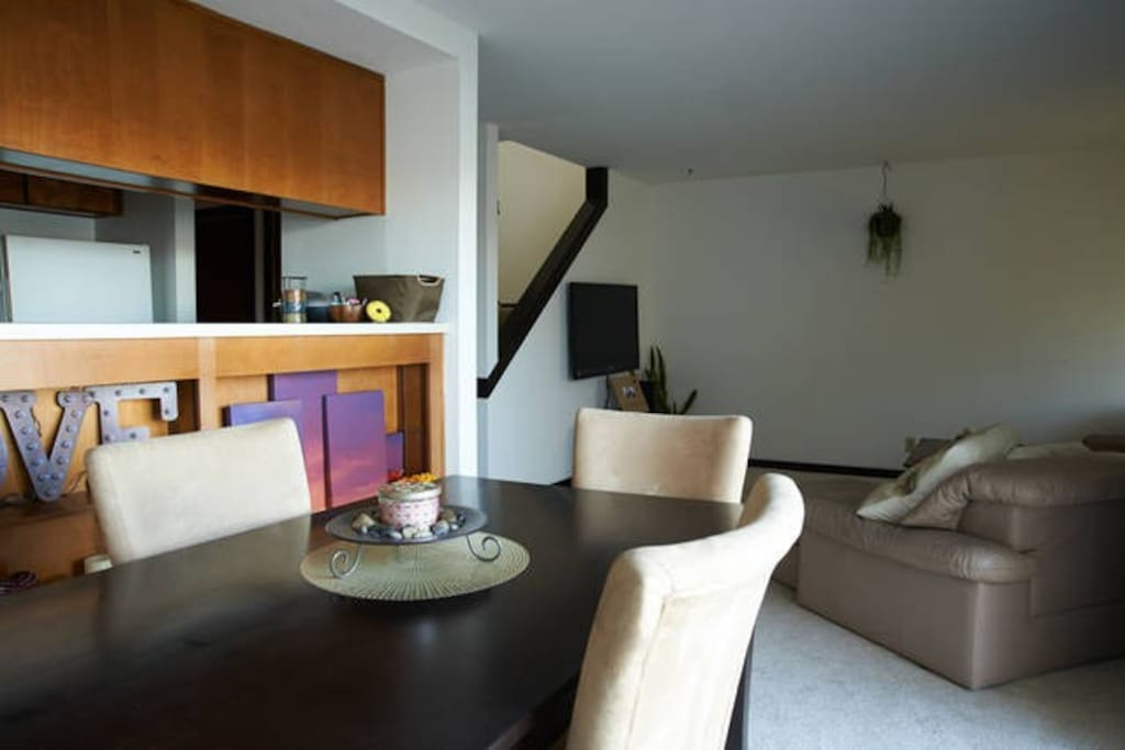 Dining Space and Living Room