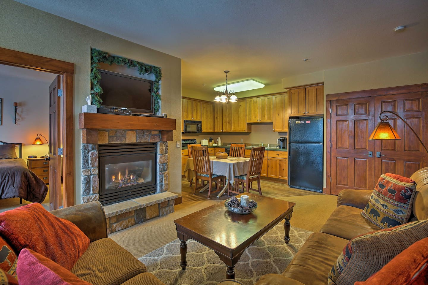 Plan your Rocky Mountain retreat to this 1-bed, 1-bath vacation rental condo.