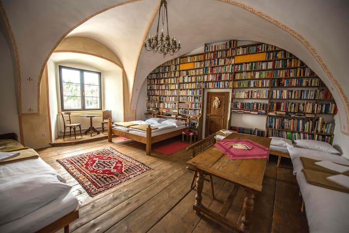 Historische Unterkunft mit Bibliothek & Frühstück