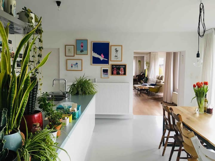 Bright, spacious house with big garden
