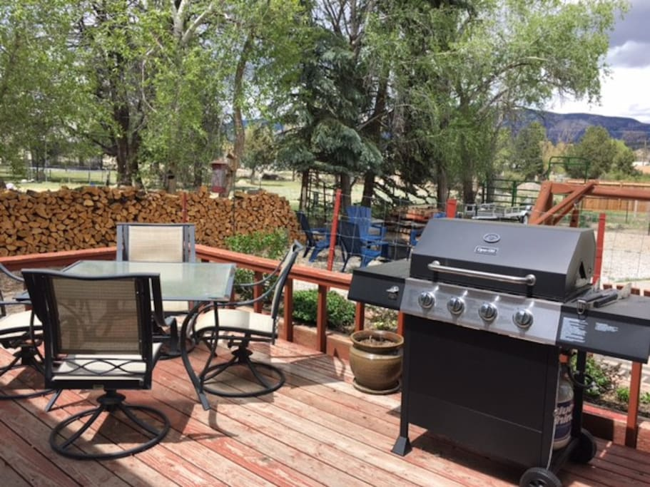 Enjoy grilling on the back deck or listening to the birds over morning coffee.