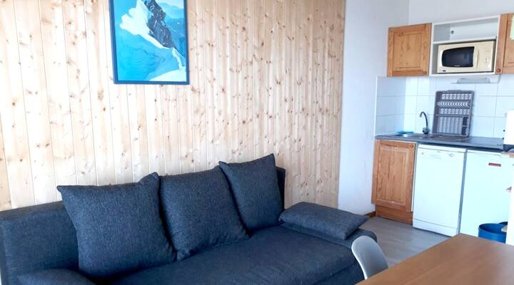 Apartment with 2 bedrooms in Saint-François-Longchamp, with wonderful mountain view and furnished balcony
