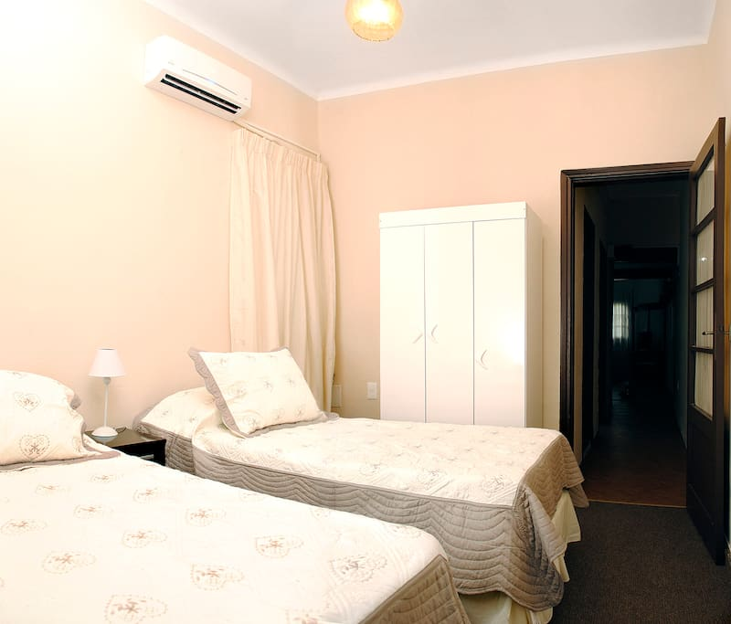 Room with individual A/C and heating