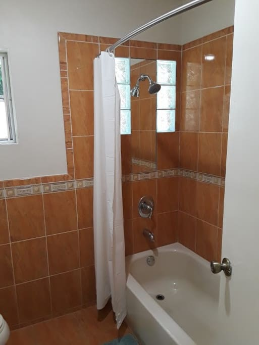 Bathroom #1: Shower and Tub with Hot & Cold Water also outlet for hair dryer.