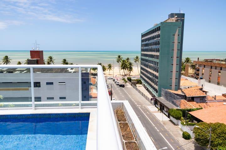 Flat novíssimo e moderno no melhor do Cabo Branco