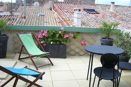 Maison de village toit terrasse proche plages - Pignan