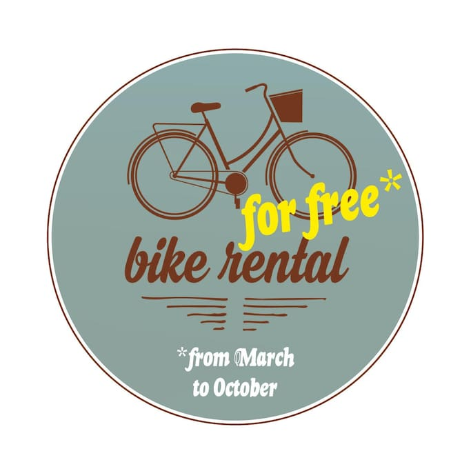Free bike provided for your stay, between March and October!