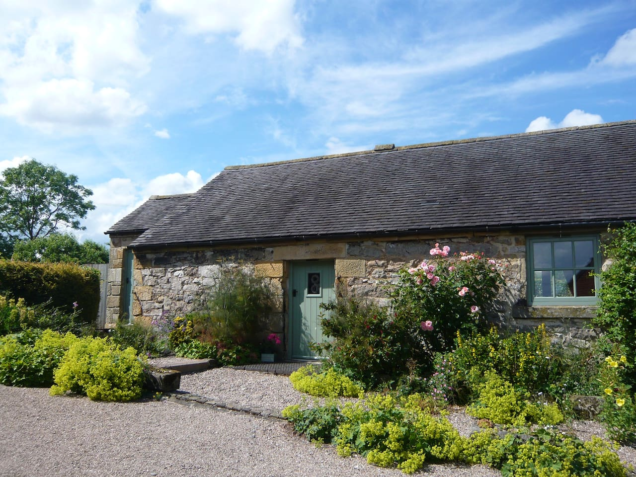 Damson Cottage in the summer