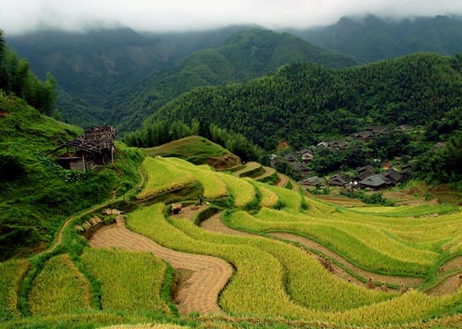 Laojia 老家, a Yao ethnic village (1) - Guilin, Laozhai village - Rumah
