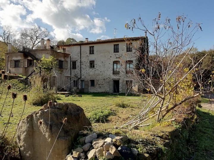 Natura i pastures ecològiques a tocar Besalú.
