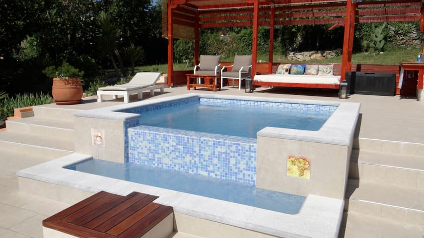 Traditional Istrian stone villa with relax pool
