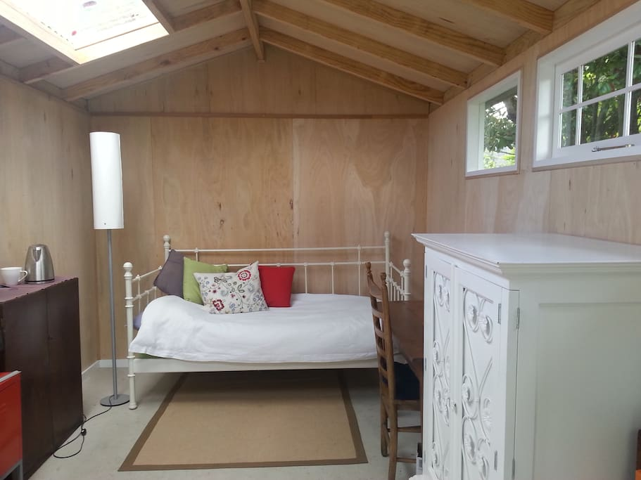 Timber lined and cosy