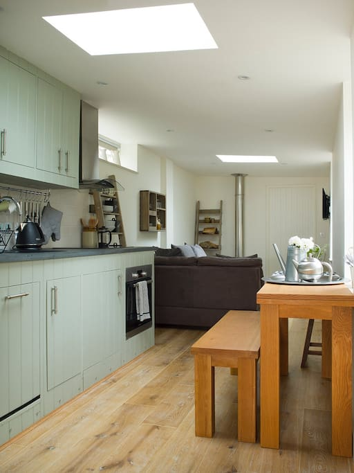Kitchen with Lounge in the background