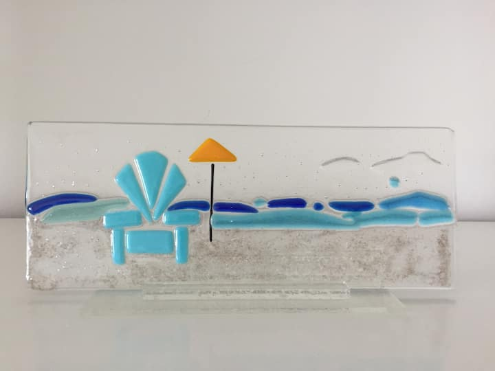 Beach inspired glass art