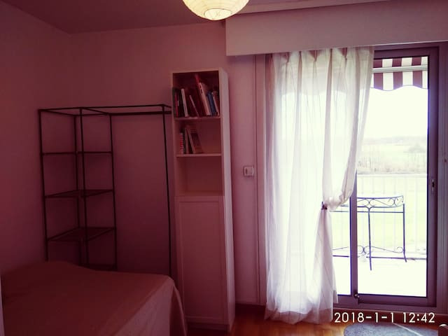 Guest room 1 balcony Geneva airport Ferney UN WHO