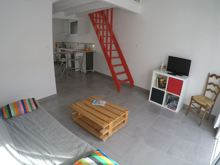 Grand studio avec Mezzanine neuf