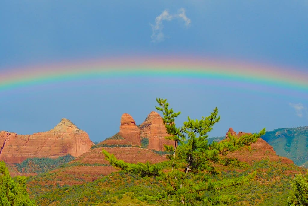 Explore the many moods of Sedona including the extraordinary vistas during the summer monsoons. This is the view facing east.