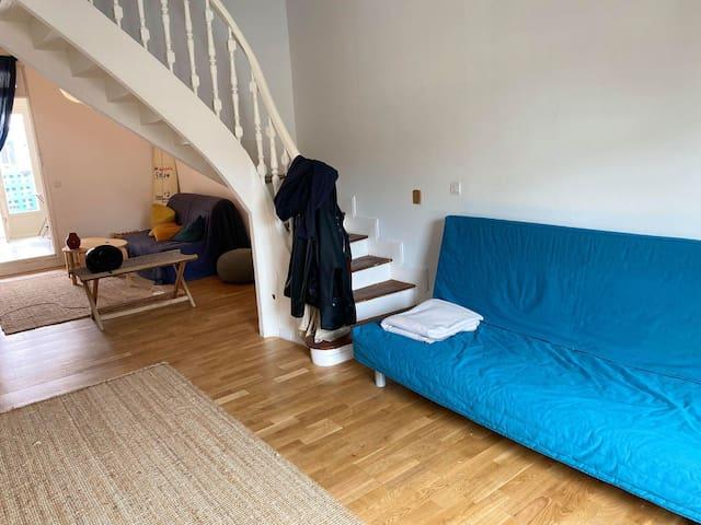 chambre privée dans maison a 100 m plage