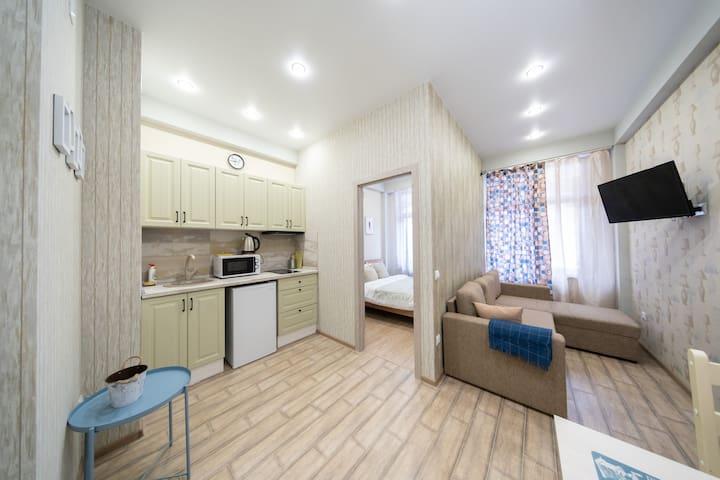 Новая двухкомнатная квартира в Красной Поляне