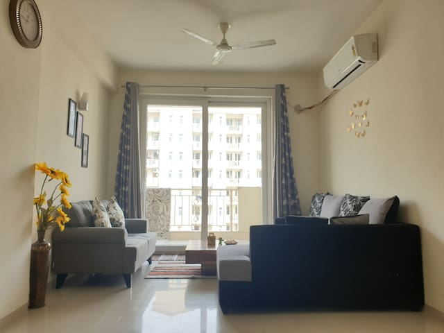 2 BedRooms with attached Bathrooms in a 3BHK Condo
