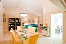 Beautiful great room with high ceilings and lots of light