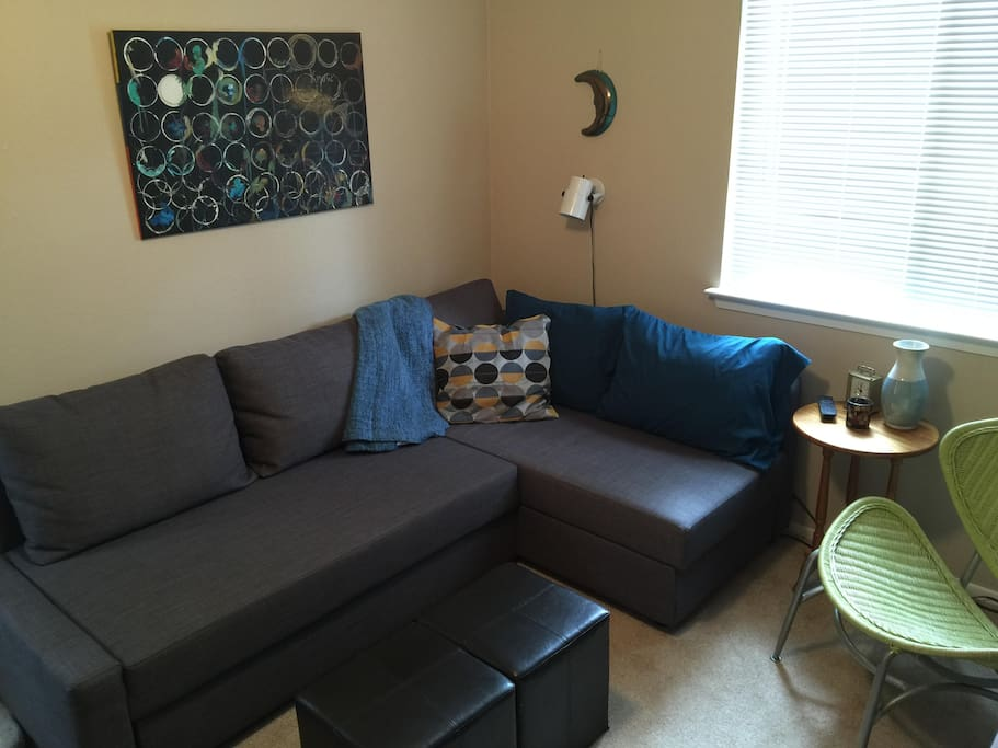 Private den/second bedroom - Ikea sofa converts to full/queen bed