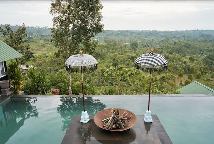 Waterfall Jungle cabin 10 w/ view & infinity pool