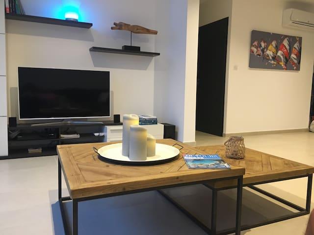 Salon TV led 120 cm lecteur Dvd BR FM et Bluetooth  PIÈCE CLIMATISÉE
