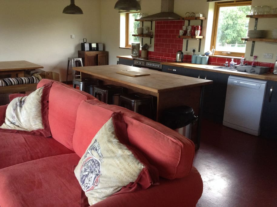 The living dining area is a wonderful social area