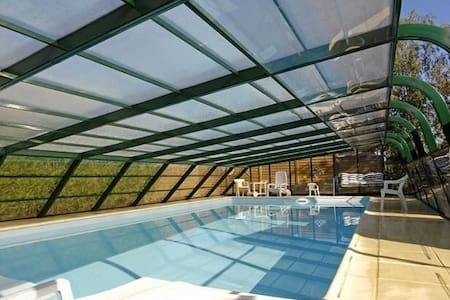 Chambre 2 pers Sdb ds maison piscine (spa sauna 1)