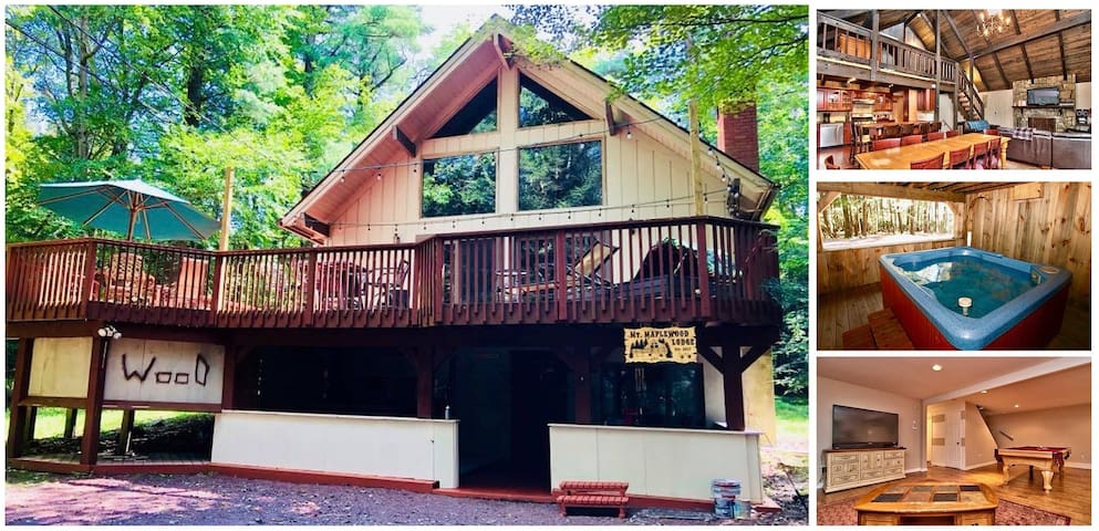 Stream Side Mountain Lodge ★ Hot Tub, near EVERYTHING - Family & Pet Friendly!