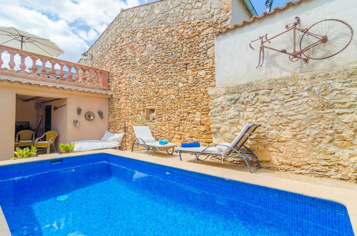 CA NA MISSA - Apartment mit Privatem Pool in Llubí. WiFi gratis