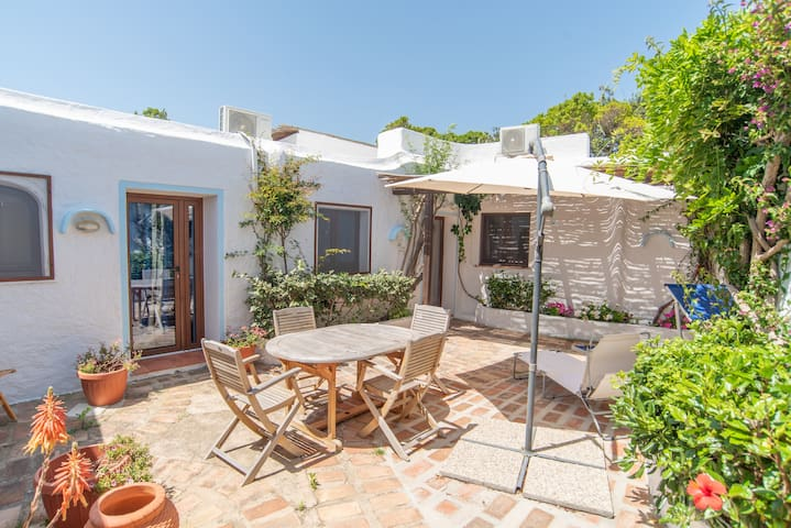 Studioapartment Close to the Beach with Garden; Parking Available, Pets Allowed