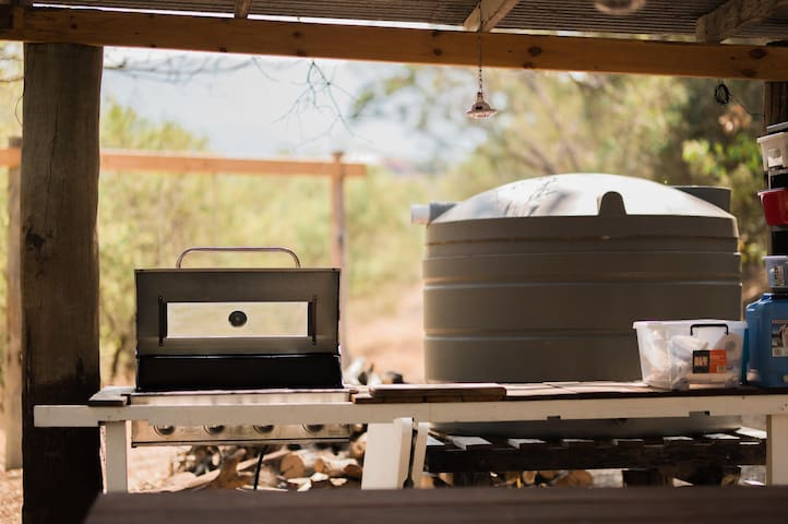 BBQ  and BBQ facilities includes plates, cutlery and cooking utensils