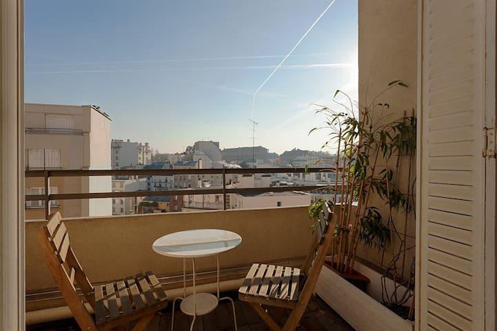 Paris -Wonderful 2bedrooms with 2 private terraces - Issy-les-Moulineaux - Apartment