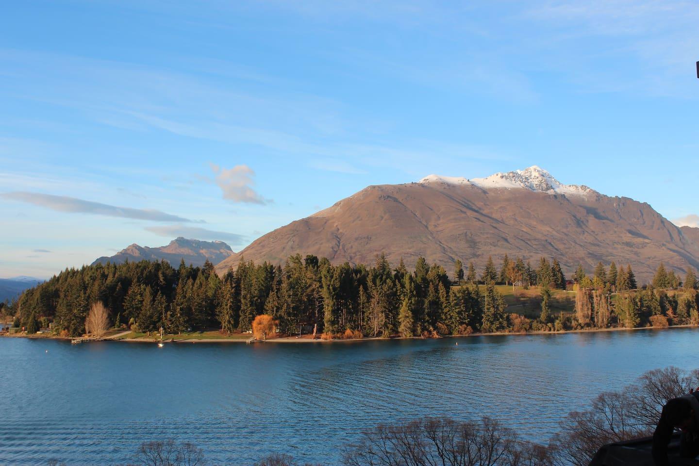 Views of Lake Wakatipu, Cecil & Walter Peak and the Remarkables