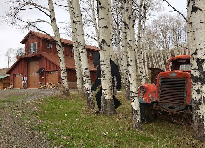 Rustic Mountain Barn on 1,000 Beautiful Acres