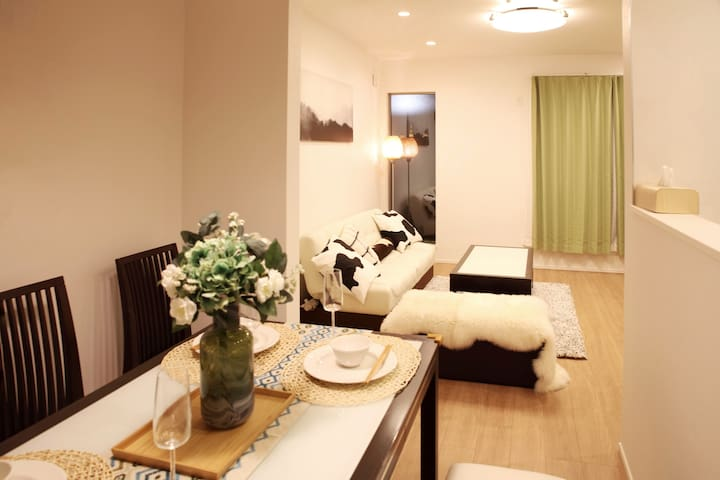 Room2;FREE WIFI;2个单人床;北池袋徒步7分钟;最新设备一户建别墅个室