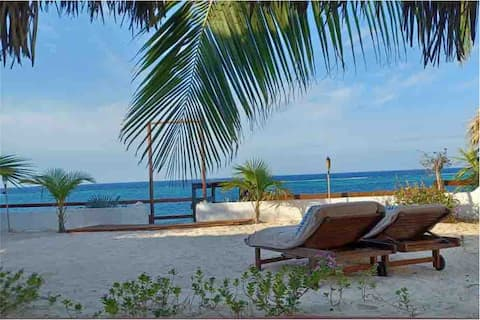 One Couple Only All Inclusive Beachfront Lux Cabin