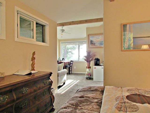 Private suite with panoramic ocean / forest views - Cambria