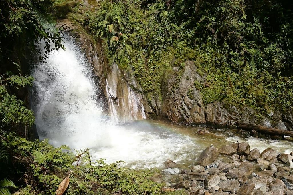 Cataratas de Mandor: 1 Km walk from the property