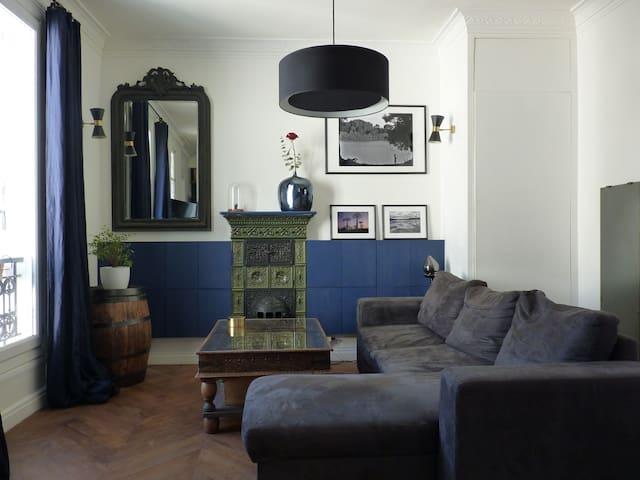 Private bedroom in a charming Parisian flat - Paris - Lägenhet