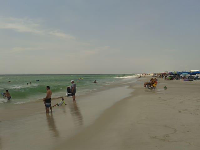 beach with nice surf
