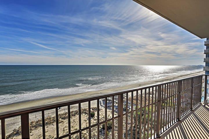 Condo w/ Patio, Ocean Views - Walk to Beach, Pier!