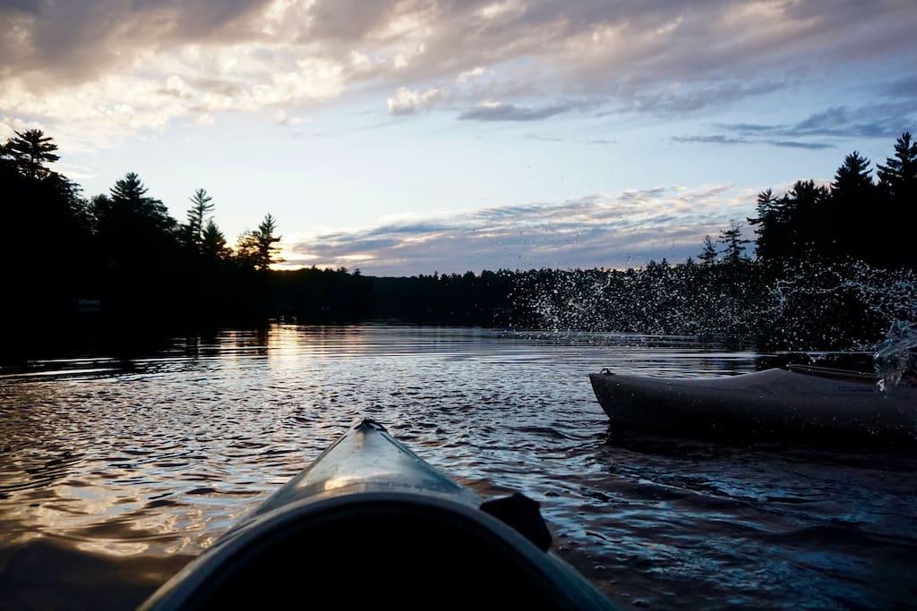 Kayaking along the Dead River Basin