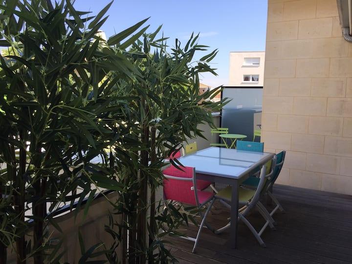 Très bel appartement récent : Terrasse de 22m2