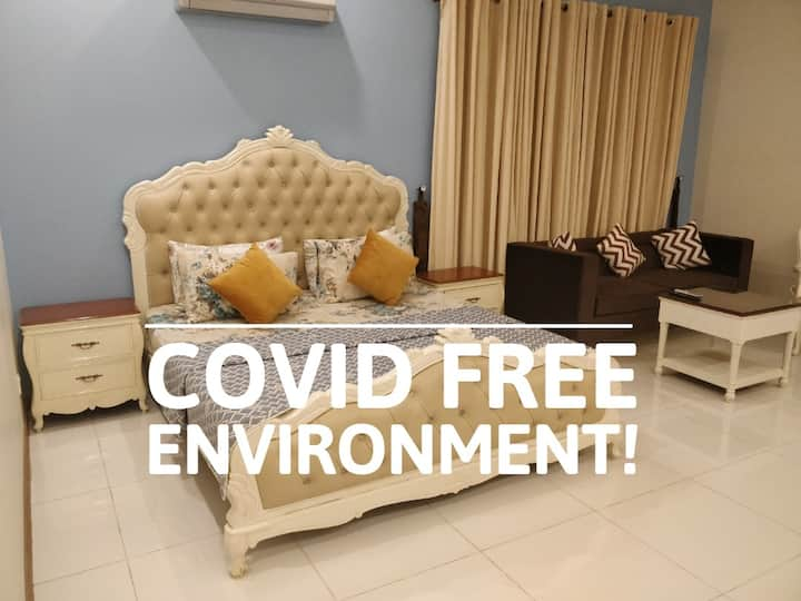 Covid Free! 5 Star Master 1BHK+Wifi+Netflix.