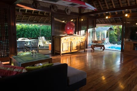 Lovely Exotic Wooden 2Bdr House with Pool - Maharepa
