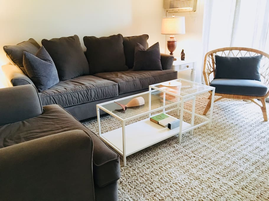 Cozy couch and love seat with Pullout Sleeper Sofa!