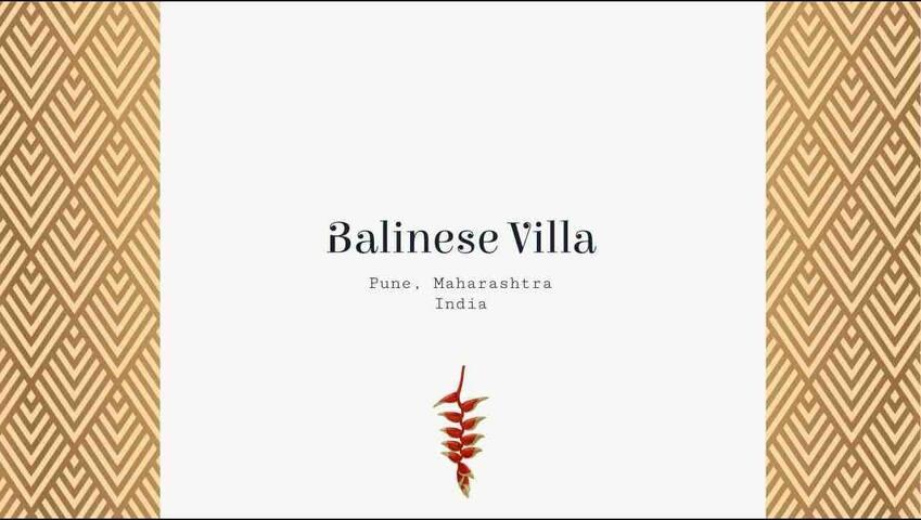Designer River Facing Balinese Villa, and garden